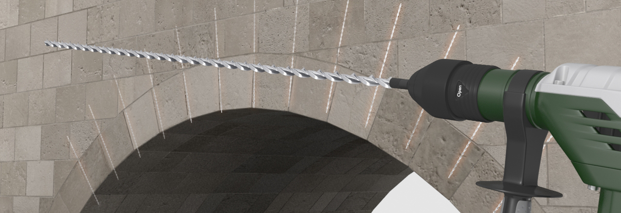 pinning masonry arches thor helical wall ties helical bars
