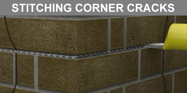 Stitching Cracks at a Corner