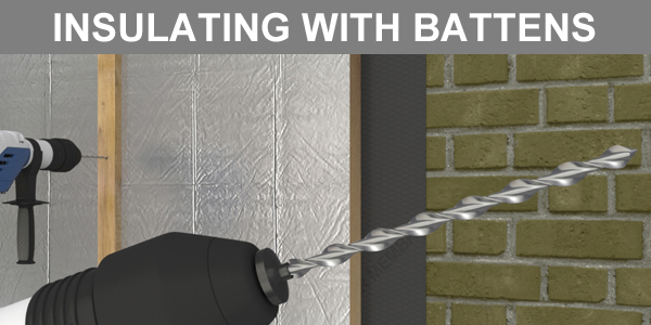 Fixing Insulation with Battens