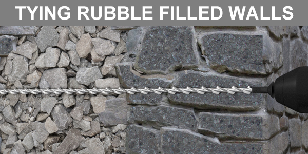 Tying Rubble Filled Walls