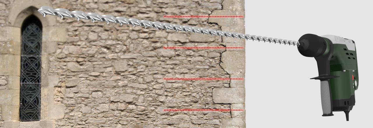 securing quoins and corner stones