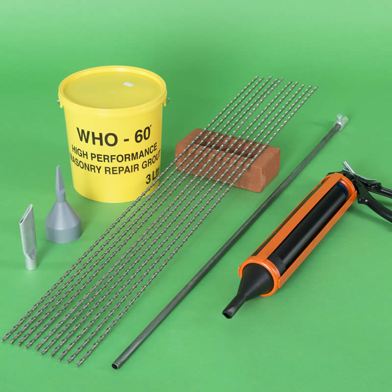 Grout-Tie Brick Pinning Kit